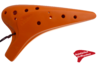 Plastic Ocarina AC C3 12-Hole Orange