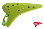 Plastic Ocarina AC C3 12-Hole Light Green